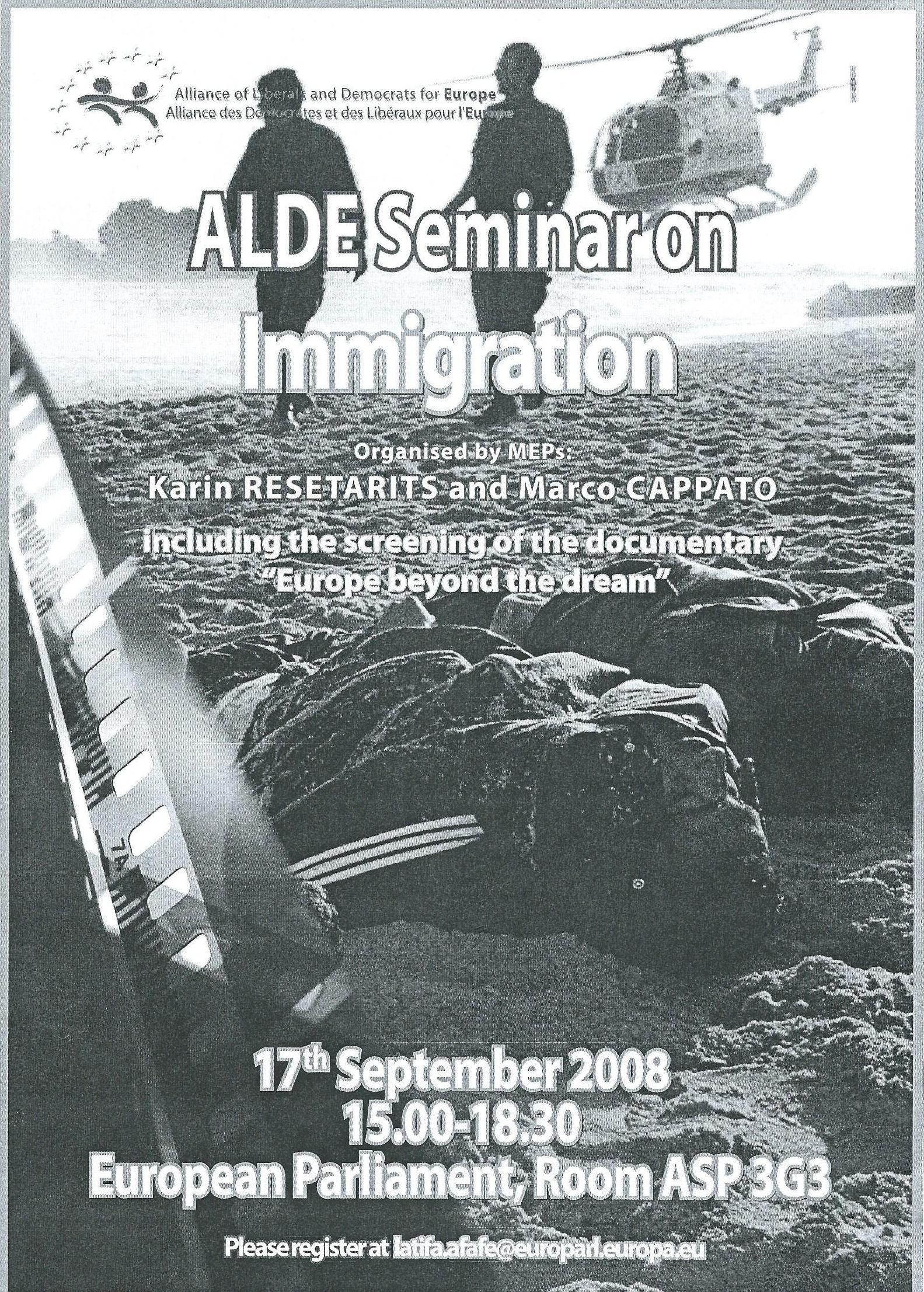 ALDE Seminar Brüssel Fluchtziel Europa