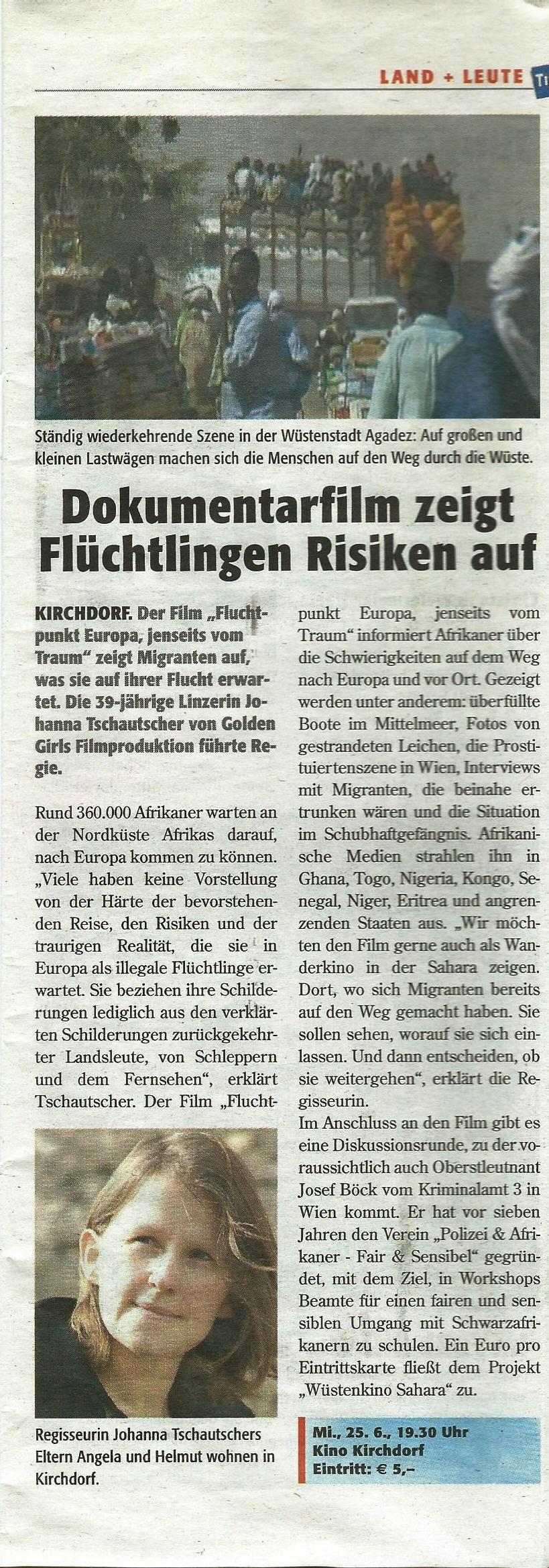 Fluchtziel Europa Tips Presse 3